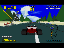 Virtua Racing ingame screenshot