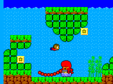 Alex Kidd in Miracle World ingame screenshot