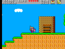 Wonder Boy in Monster Land ingame screenshot