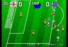 Tecmo World Soccer '96 ingame screenshot