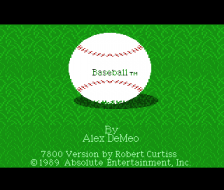 Baseball title screenshot