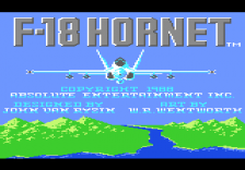 F-18 Hornet title screenshot