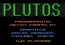 Plutos title screenshot
