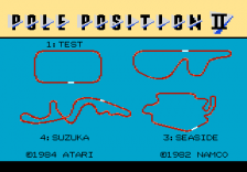 Pole Position II title screenshot