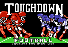 Touchdown Football title screenshot