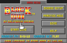Block Out title screenshot