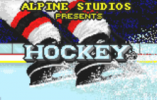 Hockey title screenshot