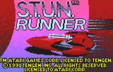 S.T.U.N. Runner title screenshot