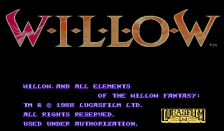 Willow title screenshot