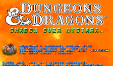Dungeons & Dragons : Shadow over Mystara title screenshot
