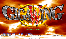 Giga Wing title screenshot