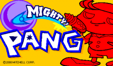 Mighty! Pang title screenshot