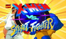 X-Men Vs. Street Fighter title screenshot