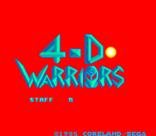 4-D Warriors title screenshot