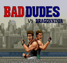 Bad Dudes vs. Dragonninja title screenshot
