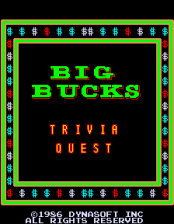 Big Bucks title screenshot