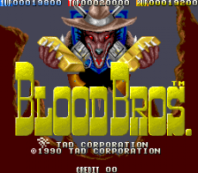 Blood Bros. title screenshot