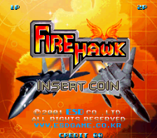 Fire Hawk title screenshot