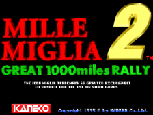 Great 1000 Miles Rally 2 : Mille Miglia 2 title screenshot