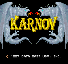 Karnov title screenshot