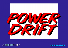 Power Drift title screenshot