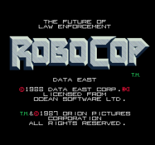 Robocop title screenshot