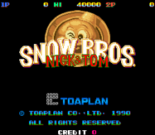 Snow Bros title screenshot