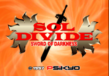 Sol Divide - The Sword Of Darkness title screenshot
