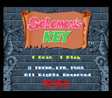 Solomon's Key title screenshot