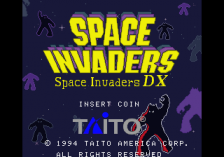 Space Invaders DX title screenshot