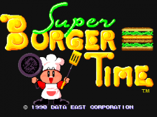 Super Burger Time title screenshot