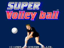 Super Volleyball title screenshot