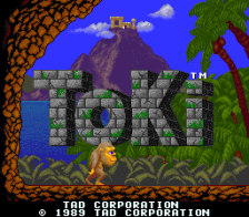 Toki title screenshot