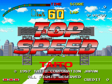 Top Speed title screenshot
