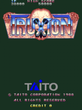 Truxton : Tatsujin title screenshot