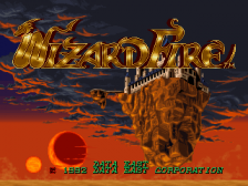 Wizard Fire title screenshot