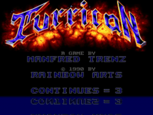 Turrican title screenshot