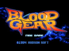 Blood Gear title screenshot