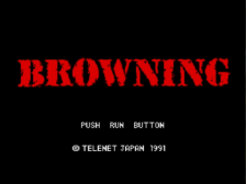 Browning title screenshot