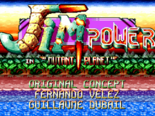 Jim Power - In Mutant Planet title screenshot