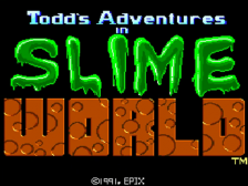 Slime World title screenshot