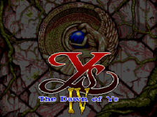 Ys IV - The Dawn of Ys title screenshot
