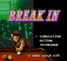 Break In title screenshot