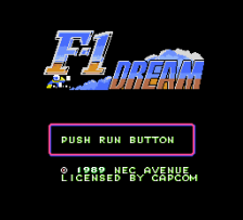 F-1 Dream title screenshot