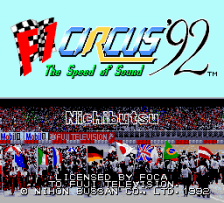 F1 Circus '92 - The Speed of Sound title screenshot