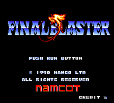 Final Blaster title screenshot