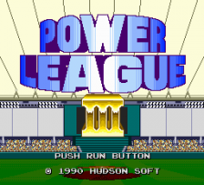 Power League III title screenshot