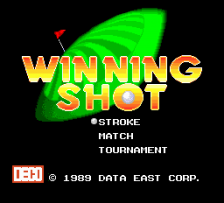 Winning Shot title screenshot