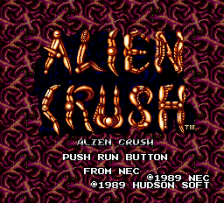 Alien Crush title screenshot