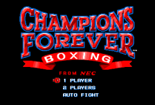 Champions Forever Boxing title screenshot